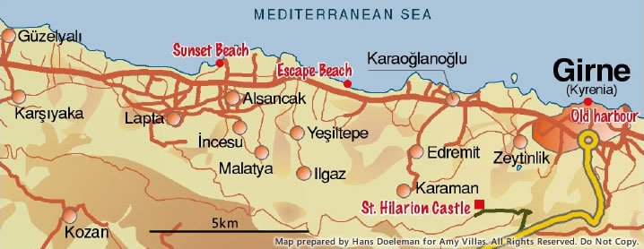 North Cyprus Map And Location Choosing Guide - Northern cyprus map